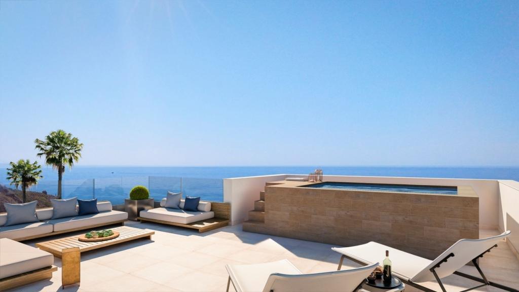 Grand penthouse moderne proche de la plage – HRD1870