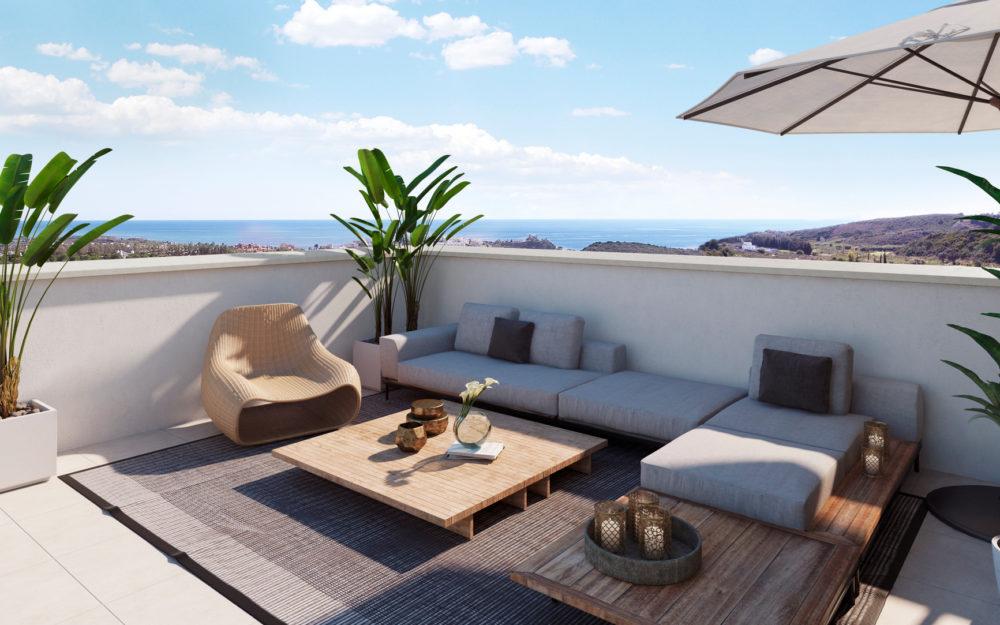 Modern 3 bed frontline golf apartment  – HRD1624