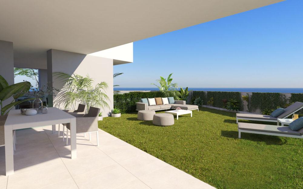 Appartements modernes avec jardin privé – HRD2339